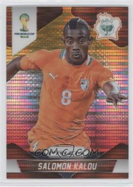 2014 Panini Prizm World Cup - [Base] - Yellow & Red Pulsar Prizms #61 - Salomon Kalou