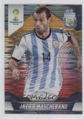 2014 Panini Prizm World Cup - [Base] - Yellow & Red Pulsar Prizms #8 - Javier Mascherano