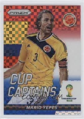 2014 Panini Prizm World Cup - Cup Captains - Red, White, & Blue Power Plaid Prizms #22 - Mario Yepes