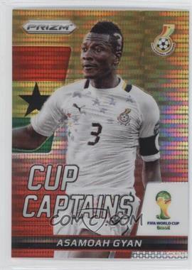 2014 Panini Prizm World Cup - Cup Captains - Yellow & Red Pulsar Prizms #2 - Asamoah Gyan