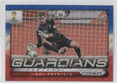 2014 Panini Prizm World Cup - Guardians - Blue & Red Wave Prizms #19 - Rui Patricio