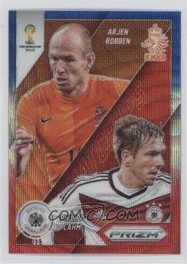 2014 Panini Prizm World Cup - Matchups - Blue & Red Wave Prizms #21 - Arjen Robben, Philipp Lahm