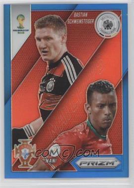 2014 Panini Prizm World Cup - Matchups - Blue Prizms #14 - Bastian Schweinsteiger, Nani /199