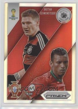 2014 Panini Prizm World Cup - Matchups - Prizms #14 - Bastian Schweinsteiger, Nani