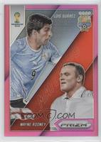Luis Suarez, Wayne Rooney #/99