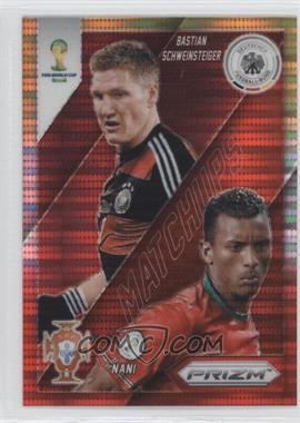 2014 Panini Prizm World Cup - Matchups - Yellow & Red Pulsar Prizms #14 - Bastian Schweinsteiger, Nani
