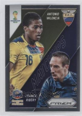 2014 Panini Prizm World Cup - Matchups #11 - Antonio Valencia, Franck Ribery