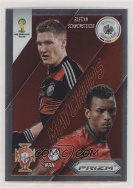 2014 Panini Prizm World Cup - Matchups #14 - Nani, Bastian Schweinsteiger