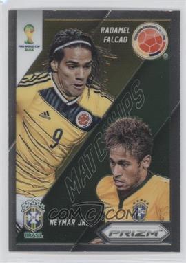 2014 Panini Prizm World Cup - Matchups #20 - Neymar Jr., Radamel Falcao