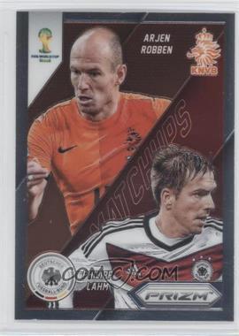 2014 Panini Prizm World Cup - Matchups #21 - Arjen Robben, Philipp Lahm