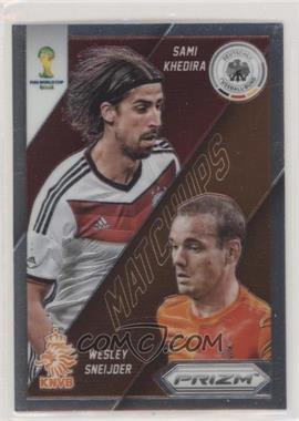 2014 Panini Prizm World Cup - Matchups #27 - Sami Khedira, Wesley Sneijder [EXtoNM]