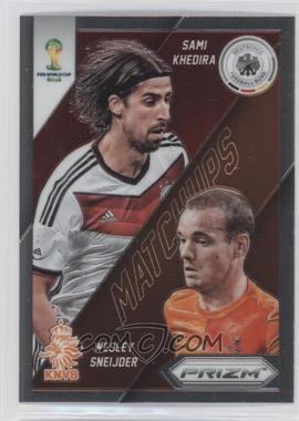 2014 Panini Prizm World Cup - Matchups #27 - Sami Khedira, Wesley Sneijder