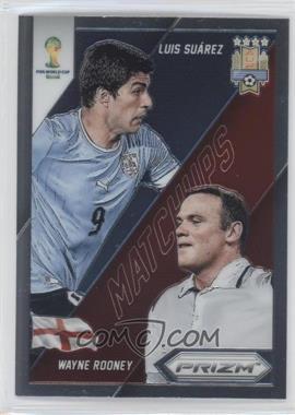 2014 Panini Prizm World Cup - Matchups #9 - Luis Suarez, Wayne Rooney
