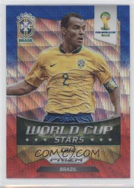 2014 Panini Prizm World Cup - Stars - Blue & Red Blue Wave Prizms #47 - Cafu