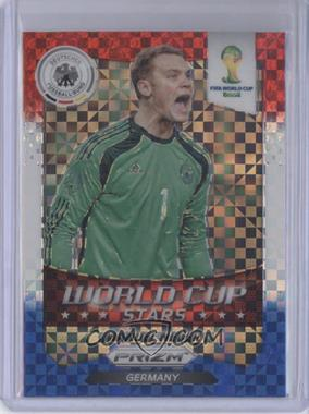 2014 Panini Prizm World Cup - Stars - Red, White, & Blue Power Plaid Prizms #17 - Manuel Neuer