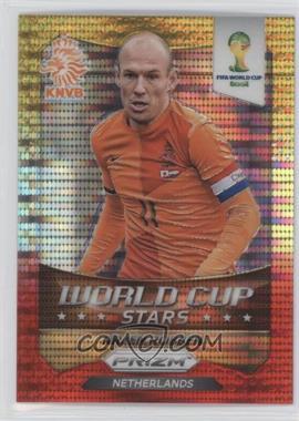 2014 Panini Prizm World Cup - Stars - Yellow & Red Pulsar Prizms #20 - Arjen Robben