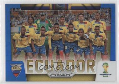 2014 Panini Prizm World Cup - Team Photos - Blue Prizms #12 - Ecuador /199