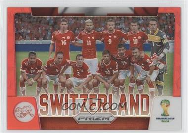 2014 Panini Prizm World Cup - Team Photos - Red Prizms #30 - Switzerland /149