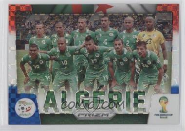 2014 Panini Prizm World Cup - Team Photos - Red, White, & Blue Power Plaid Prizms #1 - Algeria