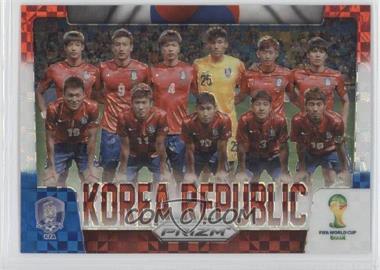 2014 Panini Prizm World Cup - Team Photos - Red, White, & Blue Power Plaid Prizms #24 - Korea Republic