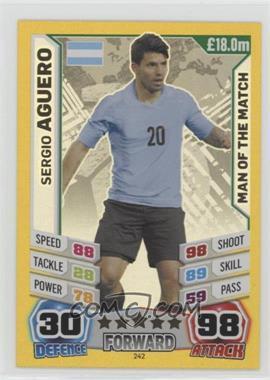2014 Topps Match Attax World Cup 2014 - [Base] #242 - Sergio Aguero