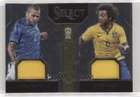 Dani Alves, Marcelo [EX to NM] #/199