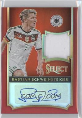 2015-16 Panini Select - Jersey Autographs - Red Prizm #JA-BS - Bastian Schweinsteiger /10