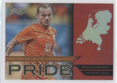 2015-16 Panini Select - National Pride - Red Prizm #50 - Wesley Sneijder /199