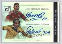 Radamel Falcao, James Rodriguez #/25