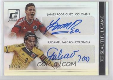 2015 Panini Donruss - The Beautiful Game Combo Signatures - Silver #BC-RF - Radamel Falcao, James Rodriguez /25