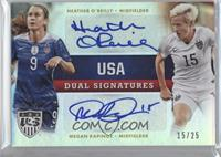 Heather O'Reilly, Megan Rapinoe /25