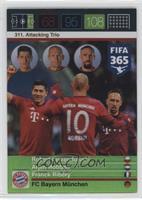 Attacking Trio - Robert Lewandowski, Arjen Robben, Franck Ribery