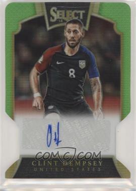 2016-17 Panini Select - Signatures - Neon Green Prizm Die-Cut #S-CD - Clint Dempsey /35