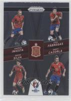 Andres Iniesta, Cesc Fabregas, Santi Cazorla, David Silva