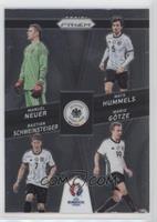 Bastian Schweinsteiger, Manuel Neuer, Mats Hummels, Mario Gotze