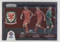 Aaron Ramsey, Wayne Hennessey, Gareth Bale