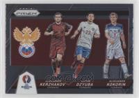Aleksandr Kerzhakov, Aleksandr Kokorin, Artem Dzyuba