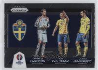 Kim Kallstrom, Zlatan Ibrahimovic, Andreas Isaksson