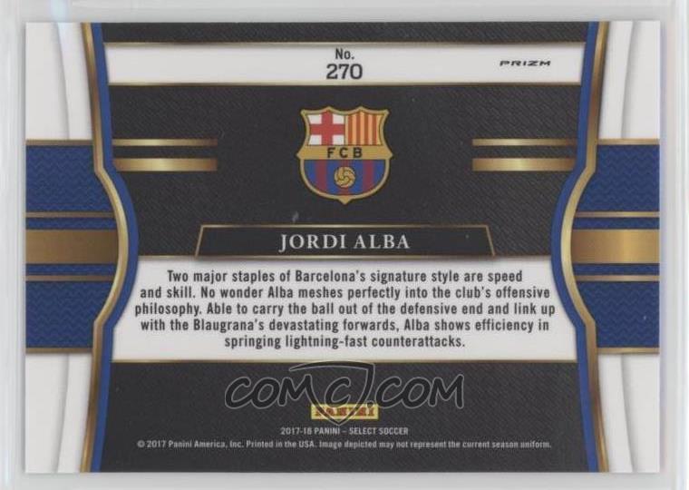 380bf46ff 2017-18 Panini Select - [Base] - Silver #270 - Field Level - Jordi Alba
