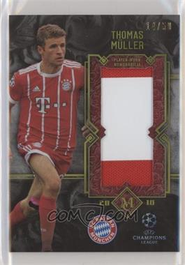 2017-18 Topps Museum Collection UEFA Champions League - Momentous Material Jumbo Relics - Gold #MMJR-TM - Thomas Muller /50