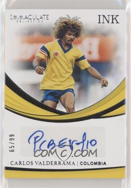 2018-19 Panini Immaculate Collection - INK #I-VAL - Carlos Valderrama /99