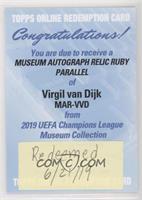 Virgil van Dijk [BeingRedeemed] #/25