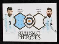Sergio Aguero, Lionel Messi #/37