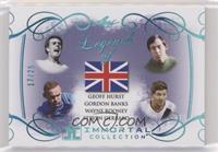 Geoff Hurst, Gordon Banks, Wayne Rooney, Steven Gerrard #/25
