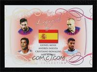Lionel Messi, Andres Iniesta, Cristiano Ronaldo, Luis Suarez [Mint]