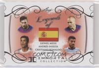Lionel Messi, Andres Iniesta, Cristiano Ronaldo, Luis Suarez