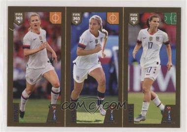 2020 Panini Fifa 365 Album Stickers - The Golden World of Football Black Back #411 - Samantha Mewis, Lindsey Horan, Tobin Heath
