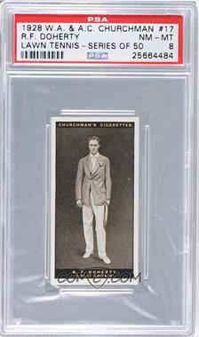 1928 Churchman's Lawn Tennis - Tobacco [Base] #17 - R.F. Doherty [PSA8NM‑MT]