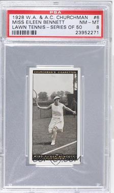 1928 Churchman's Lawn Tennis - Tobacco [Base] #6 - Miss Eileen Bennett [PSA8NM‑MT]