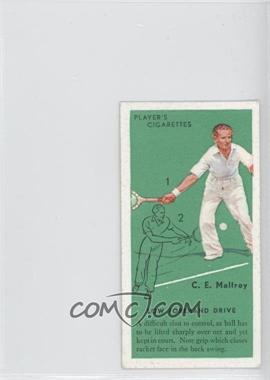 1936 Player's Cigarettes Tennis - Tobacco [Base] #10 - C.E Malfroy (Low Forehand Drive)